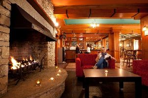 We enjoyed dinner by the fire in the Wild Atlantic Bar