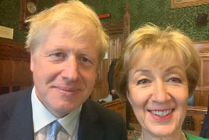 Andrea Leadsom with Boris Johnson, new leader of the Conservative party
