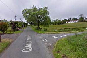 The Quintinmanus Road outside Dungannon in Co Tyrone - Google maps