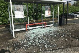 PSNI picture of the Park and Ride at Ballygawley.