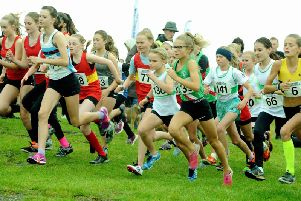 The start of the under-13 girls' race / Picture by Kate Shemilt