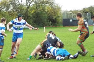 Action from the match. Photo courtesy of Peter Knight.