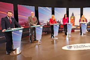 UTV's leaders debate (left to right): Colum Eastwood, Steve Aiken, Michelle O'Neill, Emma Little-Pengelly and Naomi Long