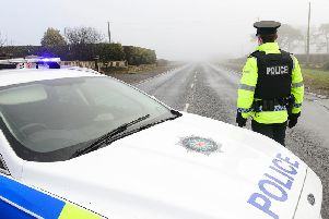 Police attending a collision