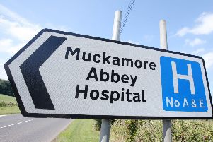 General view of signpost to Muckamore Abbey Hospital in Antrim where a number of staff have been suspended by the Belfast Health Trust. ''Picture by Jonathan Porter/PressEye
