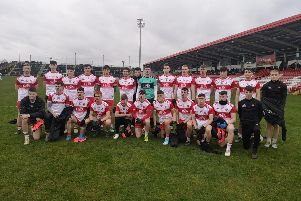 The Derry under 20 squad that defeated Fermanagh in Celtic Park.