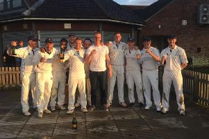 North Crawley celebrate their championship win
