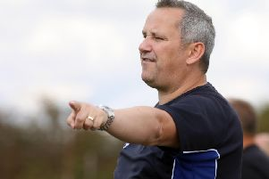 Desborough Town joint-manager Chris Bradshaw takes his team to Worcester City in the second round of the FA Vase on Sunday