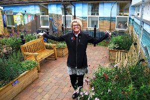 Jayne Chambers in the dementia garden at KGH