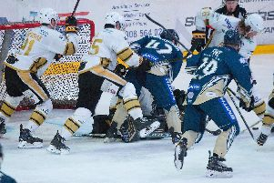 MK Lightning battle it out against Nottingham Panthers | Pic: Tony Sargent