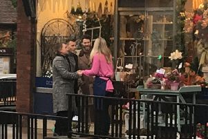 Mark Owen, Gary Barlow and Howard Donald were seen in Wendover High Street along with a film crew at around 10am on Wednesday