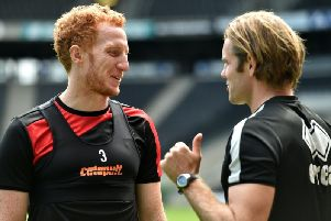Dean Lewington and Robbie Neilson