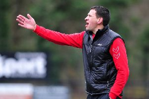 Tobermore United manager Adrian Whiteside. Pic by Simon Robinson.