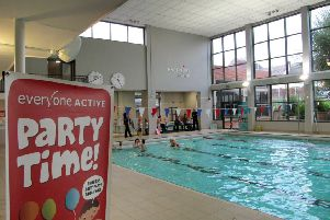 The swimming pool at Waterfield Leisure Centre EMN-191202-173941001