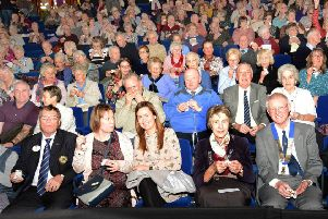The audience enjoys a halftime choc ice PHOTO: Derek Whitehouse