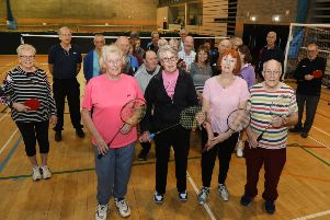 Members of the Kettering Over 50s Activities Group with founder Beryl Goodall (front left) who are celebrating their 20th anniversary today. NNL-190221-213216005