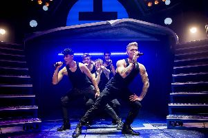 Music by Take That features in The Band at Milton Keynes Theatre