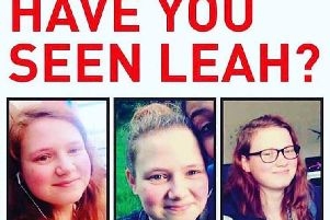 The missing person poster which has been put up around MK for Leah