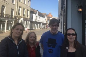 Cllr Helen Adkins, Ali Lush, Adrian Gains owner of Temperance caf� and Cllr Kristie Naimo