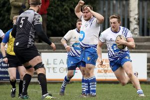 Tom Gulland on the run for the Lions at Otley last weekend. Picture: Mick Sutterby