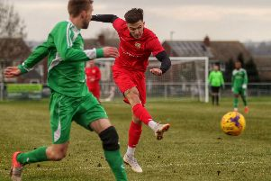 Callum Westwood was a star performer and goalscorer for Town in their impressive win at Lutterworth Athletic EMN-190318-092735002