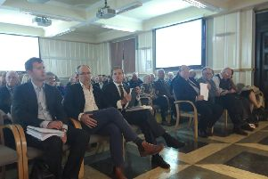 The busy public gallery at last night's meeting.