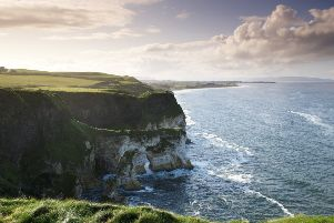 The Causeway Coast between Dunluce Castle and Portrush