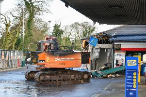 PACEMAKER BELFAST  24/03/2019 'A cash machine has been torn from the wall of a filling station in Irvinestown, County Fermanagh.'The incident happened at Dromore Road around 04:05 GMT on Sunday.