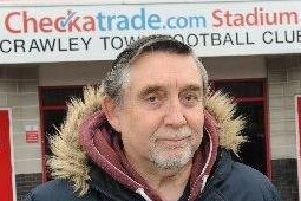 Crawley Town fan Geoff Thornton.'Picture by Steve Robards
