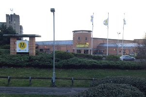 GV of Morrisons supermarket, Lower Street, Kettering NNL-140224-112818001