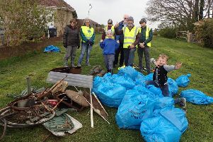 An assortment of metal items was collected during the Great British Spring Clean in Southwick