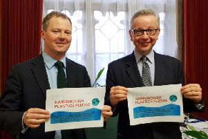 From left, Neil O'Brien MP and Environment Secretary Michael Gove.