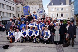 The Martlet and Morris Men at a previous performance in Chartres
