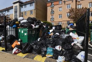 The pile of rubbish