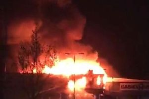 A photo of the fire sent in by Toby Wood, which was taken by his granddaughter