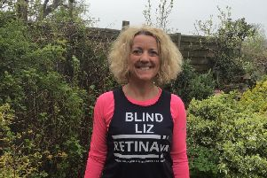 Liz Pimperton is running the London Marathon in aid of Retina UK