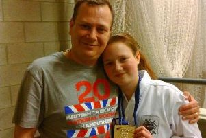Leah with her dad
