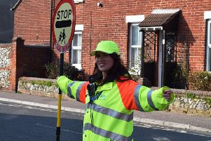 Michelle Padwick, a school crossing patrol officer based in Littlehampton