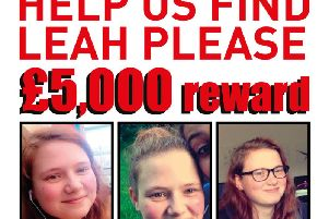 Leah's missing poster