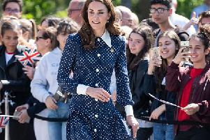 The Duchess of Cambridge during her visit to MK