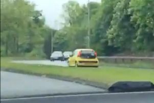 The P-plate driver was travelling towards a busy roundabout