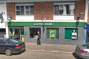 Lloyds Bank in Newport Pagnell