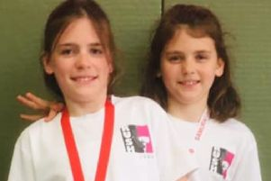 Jessica and Sophie Rush, who both won gold medals in Kidderminster at the weekend.