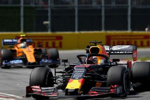 Verstappen had to fight through the field in Montreal