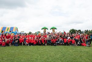 Santander staff play It's a Knockout