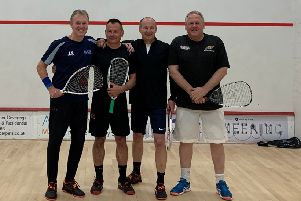 Berkhamsted Tennis & Squash Club's squash57 team, from left, John Shaw, captain Russ Sanders, Richard Carr and Mike Hawkes.