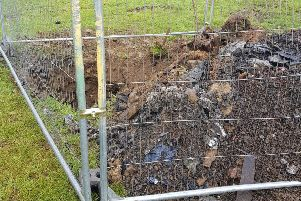 The sinkhole was full of rubbish NNL-190613-160055005