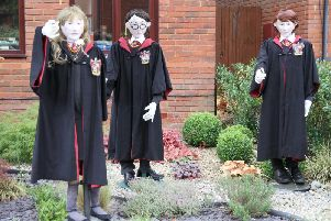 The Harry Potter themed scarecrows won the top award
