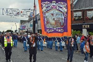 Members of Glengormley Purple Star Temperance LOL No 1551 on parade during a previous mini Twelfth in Glengormley.