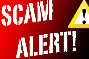 Local people have been warned about scammers.